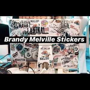 60 Brandy Melville Stickers!🌹